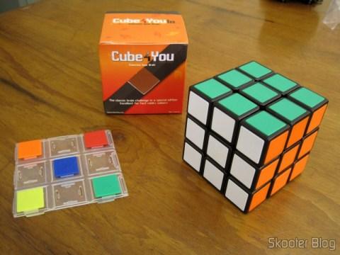 Cubo Mágico de Alta Qualidade e Velocidade 3x3x3, placa com ladrilhos reserva e embalagem
