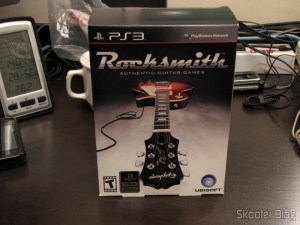 A caixa do Rocksmith (PS3)