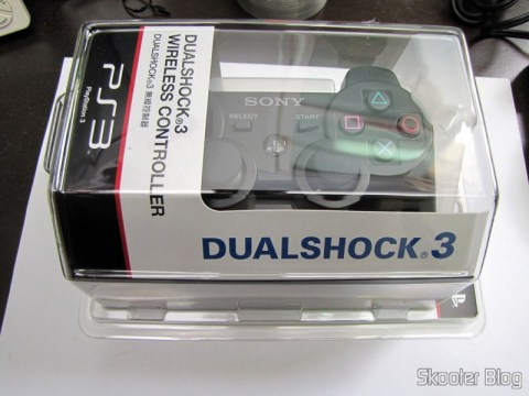 Dualshock 3 para o Playstation 3 (PS3), ainda lacrado no blister original