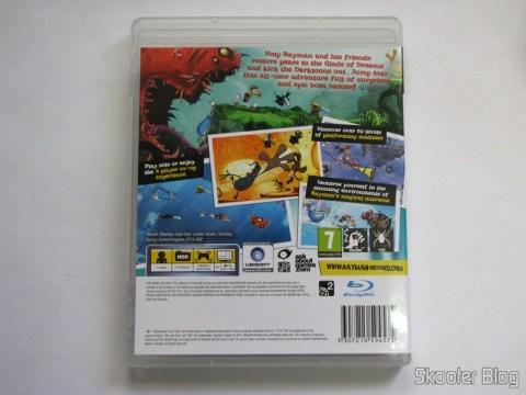 Parte traseira da capa do Rayman Origins
