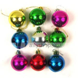 12 bolas ornamentais coloridas para pendurar em árvore de Natal
