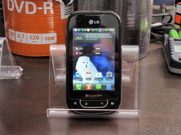 Suporte para Celular e Tablet de Plástico Cristal Transparente