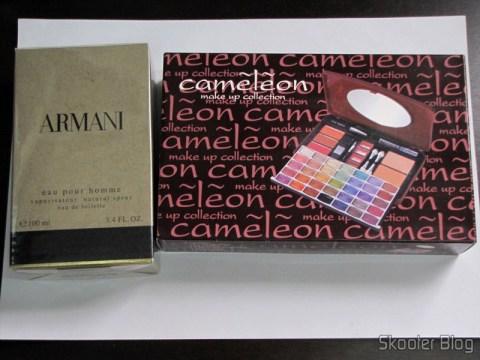 ARMANI by Giorgio Armani EDT SPRAY 3.4 OZ for MEN e Kit de Maquiagens Camaleon G1688