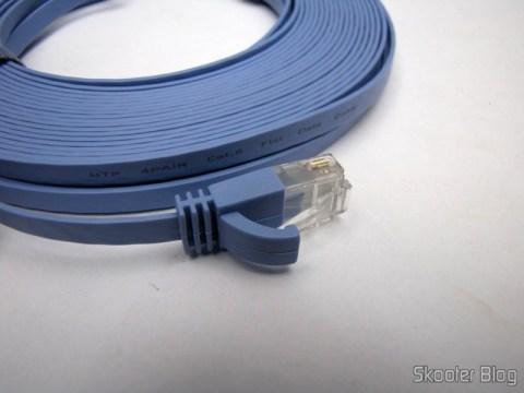 Cabo LAN Ethernet RJ45 Ultra-Finos CAT6 com 15 metros