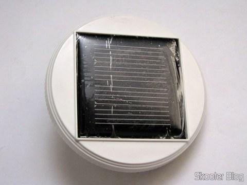 A célula solar da Lâmpada Cerâmica Decorativa com Luz Multicolorida, Alimentada com Energia Solar, com Padrão de Folha de Maple, Branca