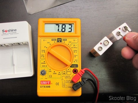 Battery voltage test when they arrived