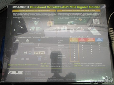 Caixa do Roteador Wireless Gigabit 1300Mbps ASUS RT-AC66U (ASUS RT-AC66U 1300 Mbps Gigabit Wireless Router)