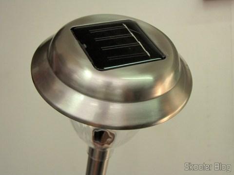 Sensor solar da Lâmpada de Jardim de Aço Inoxidável com Luz de LED Branca Auto-Recarregável com Energia Solar (1*AA) (Stainless Steel Solar Powered Self-Recharged LED White Light Lawn Lamp (1*AA))