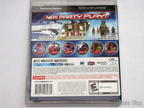 Back of the Sports Champions box 2 (PS3)