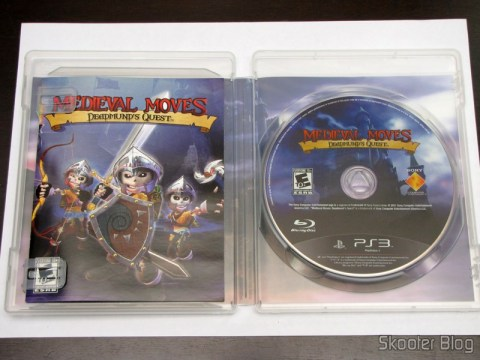 Manual e disco Blu-ray do Medieval Moves: Deadmund's Quest (PS3)