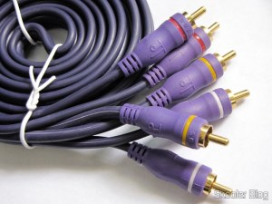 Cabo Triple RCA male to Triple RCA Male, Com Purple 2 meters (3 RCA Male to 3 RCA Male Audio Video Cable – Purple (2.0m))