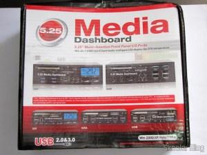 Painel Frontal 5.25″ Multi-Função Tudo-em-Um USB 2.0 / 3.0 e Leitor de Cartões (All-in-1 5.25″ USB 2.0 / 3.0 Multi-Function Front Panel Media Card Reader Dashboard) em sua embalagem