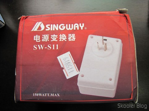 AC Voltage Converter for Travel Sense Double Singway 150W (Singway 150W 2-Way AC Travel Voltage Converter), in your mailbox