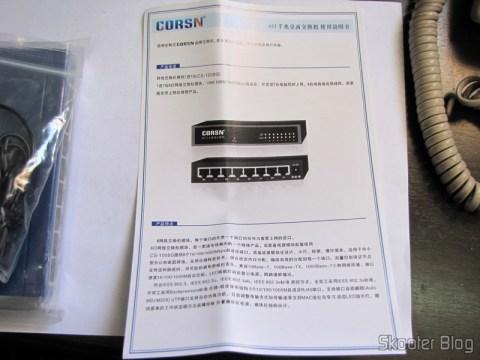 Manual do Switch 8 Portas Gigabit Ethernet 10/100/1000Mbps CORSN CS-1008G (CORSN CS-1008G 8-Port 100Mbps / 1000Mbps Switch – Blue)