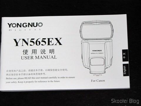 "Manual do Flash TTL YongNuo Speedlite YN565EX c/ LCD 2.0"" para Canon DSLR (YongNuo Y565EX 2.0"" LCD TTL Flash Speedlite Speedlight for Canon DSLR - Black (4 x AA))"