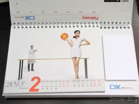 Desktop Calendar with Coupons for Discount 12 Months DX 2013 (DX 2013 Desk Calendar with 12 Months' Coupon Codes) - February