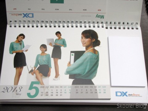 Desktop Calendar with Coupons for Discount 12 Months DX 2013 (DX 2013 Desk Calendar with 12 Months' Coupon Codes) - Month of May