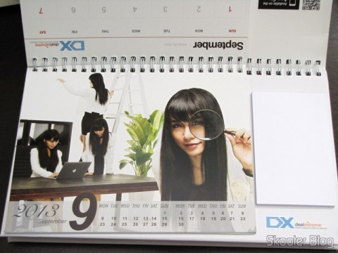 Desktop Calendar with Coupons for Discount 12 Months DX 2013 (DX 2013 Desk Calendar with 12 Months' Coupon Codes) - September month