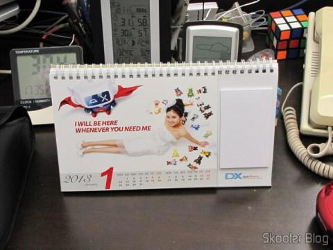 Desktop Calendar with Coupons for Discount 12 Months DX 2013 (DX 2013 Desk Calendar with 12 Months' Coupon Codes) - January