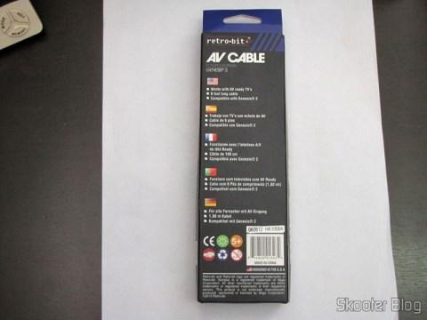 Cabo de Audio Estéreo e Vídeo Composto para Mega Drive III da Tectoy, Mega Drive II japonês e europeu, e Sega Genesis 2 e 3 (New AV RCA Video Audio Composite Cable for Sega Genesis Mega Drive II III 2 3) em sua embalagem
