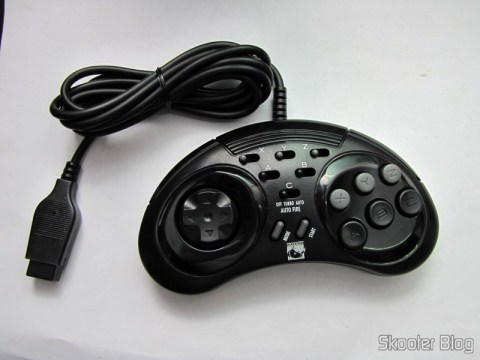 Controller 6 Botões ASCII 'Rhino' Mega Drive (Mega Drive ASCII 'Rhino' 6 button controller)