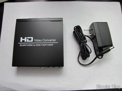 Conversor de Video de SCART + HDMI para HDMI (SCART + HDMI to HDMI Video Converter – Black) e sua fonte