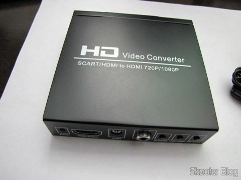 SCART Video Converter + HDMI to HDMI (SCART + HDMI to HDMI Video Converter – Black)