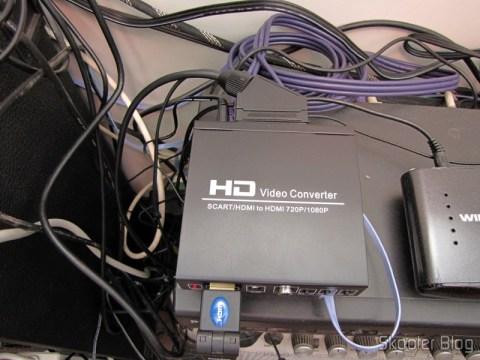 SCART Video Converter + HDMI to HDMI (SCART + HDMI to HDMI Video Converter – Black) operation