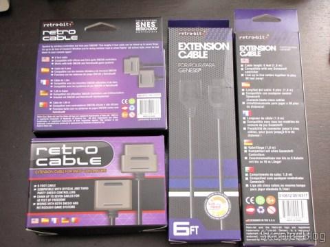 2 Extensões para Cabos de Controlador de Mega Drive c/ 1,8m e 2 Extensões para Cabo de Controlador de Super Nintendo c/ 1,8m