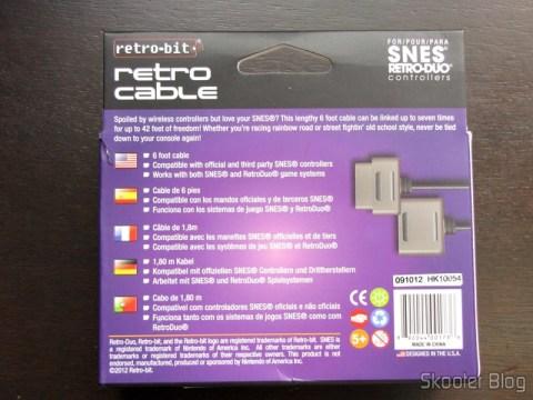 Embalagem da Extensão para Cabo de Controlador de Super Nintendo c/ 1,8m (2 6ft Extension Cable for Super Nintendo SNES BRAND NEW)