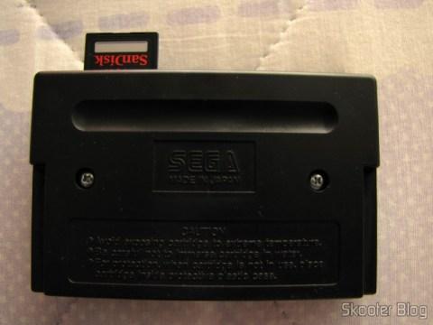 Cartão de Memória de Alta Velocidade SDHC 300X Sandisk Extreme Genuíno 16GB Classe 10 (Genuine SanDisk Extreme SDHC 300X High-Speed Memory Card (16GB / Class 10)), conectado no Mega Everdrive