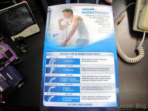 Waterpik Ultra Water Flosser, on its packaging