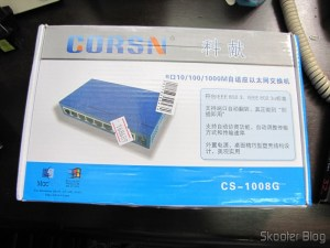 Switch 8 Portas Gigabit Ethernet 10/100/1000Mbps CORSN CS-1008G (CORSN CS-1008G 8-Port 100Mbps / 1000Mbps Switch – Blue)