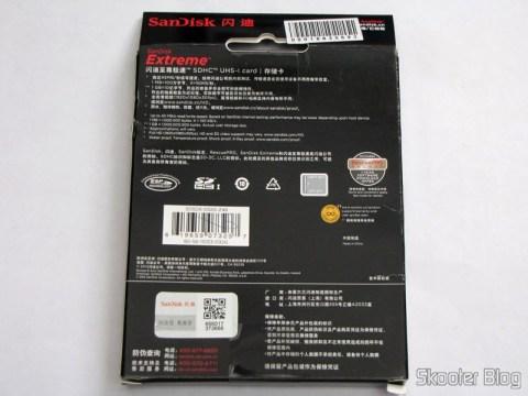 Cartão de Memória de Alta Velocidade SDHC 300X Sandisk Extreme Genuíno 32GB Classe 10 (Genuine SanDisk Extreme SDHC 300X High-Speed Memory Card (32GB / Class 10)), em sua embalagem