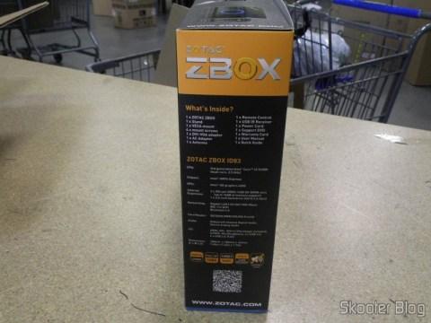 Zotac ZBOX ID83 Core i3-3120M 2.5GHz Intel HM76 DDR3 Wi-Fi A&V Gigabit Ethernet Mini PC Barebone System (ZBOX-ID83-U), em sua embalagem, na foto enviada pela Shipito