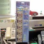 Filtro de Linha com 5 Tomadas Universais e Interruptores Individuais (5-Outlet Electric AC Power Bar Strip Splitter with Switch (250V))