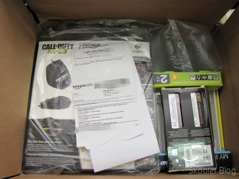 Disco Rígido (HD) Externo Portátil WD My Passport 2TB USB 3.0 Preto, Mouse Logitech G9X Edição Call of Duty: MW3, Memória de Laptop Corsair Vengeance 16GB (2x8GB) DDR3 1600MHz