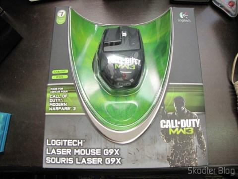 Mouse Logitech G9X Edição Call of Duty: MW3 (Logitech G9X Gaming Mouse Call of Duty: MW3 Edition (910-002764)) em sua embalagem