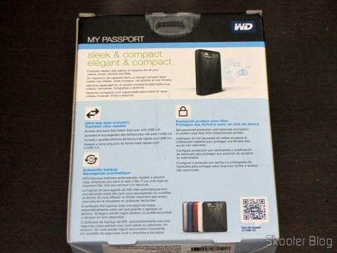Embalagem do Disco Rígido (HD) Externo Portátil WD My Passport 2TB USB 3.0 Preto (WD My Passport 2TB Portable External Hard Drive Storage USB 3.0 Black)