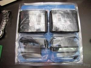 Retransmissor de Infravermelho Sem Fio 433MHz (433MHz Wireless Infrared Re-Transmitter Set - Black + Silver) em sua embalagem