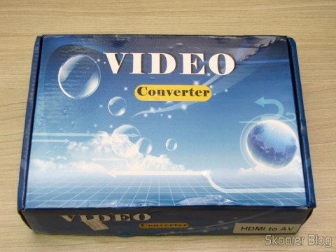Box with HDMI converter for Composite Video (CVBS) + Stereo Audio (HDMI to CVBS Video Converter)