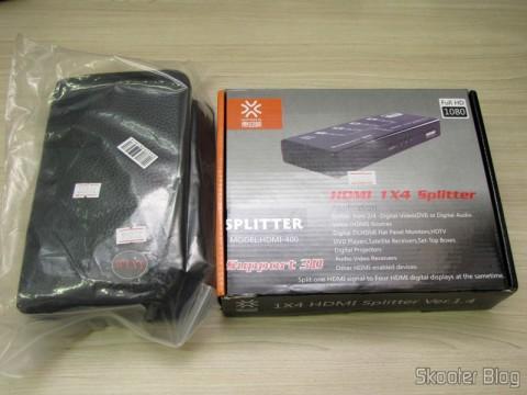 Mini Furadeira / Amolador Elétrico WLXY WL-800 e Splitter HDMI de 1 entrada para 4 saídas HUIYISHUN HDMI-400 HDMI v1.4 Full HD 1080p 3D