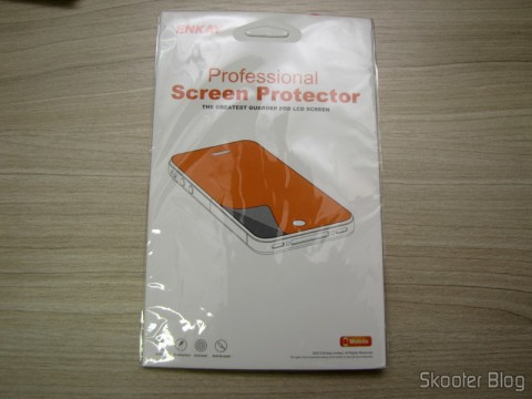 Película de Proteção de Tela para Samsung Galaxy Grand Duos / i9082 ENKAY Transparente (ENKAY Screen Guard Protector for Samsung Galaxy Grand Duos / i9082 - Transparent) em sua embalagem