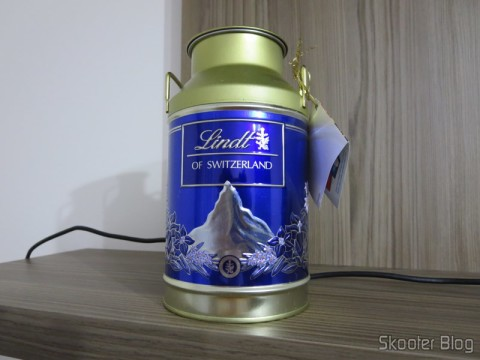Lata-embalagem de tabletes de chocolate Lindt