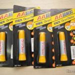 4 Tubos de Super Cola Instantânea Aron Alpha (Aron Alpha Instant Super Glue)