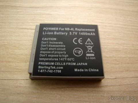 Canon NB-4L CTC Bateria - 1400mAh Canon Powershot SD1400 IS para, ELPH 300 HS, SD1400IS, SD750, ELPH 100 HS, SD1000, SD1100 IS, SD600, S (STK's Canon NB-4L Battery Pack – 1400 mAh for Canon Cannon Powershot SD1400 IS, ELPH 300 HS, SD1400IS, SD750, ELPH 100 HS, SD1000, SD1100 IS, SD600, S)