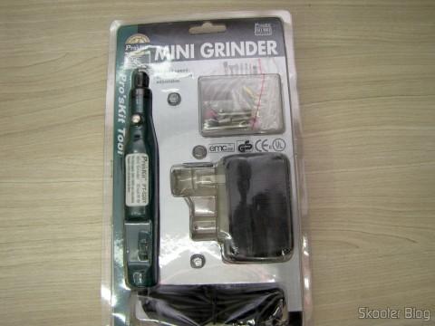 Mini Grinder Pro'sKit PT-5201A (110 V), em sua embalagem