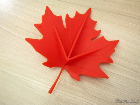 Para-Porta Estilo Folha de Maple Vermelho (Maple Leaf Style Door Stopper Guard - Red)