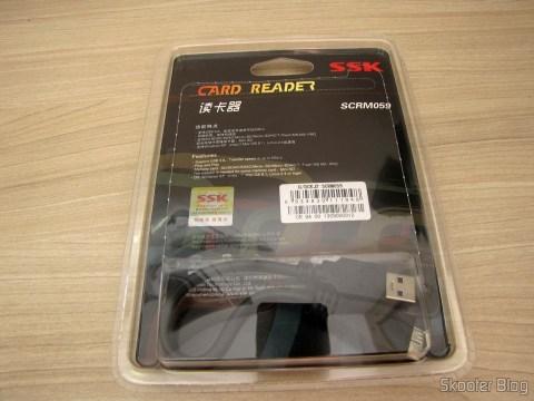 Leitor de Cartões SD, Micro SD / TF / MS / CF SSK SCRM059 USB 3.0 Alta Velocidade 5Gbps (SSK SCRM059 High Speed 5Gbps USB 3.0 SD, Micro SD / TF / MS / CF Card Reader - Black (64GB)) em sua embalagem