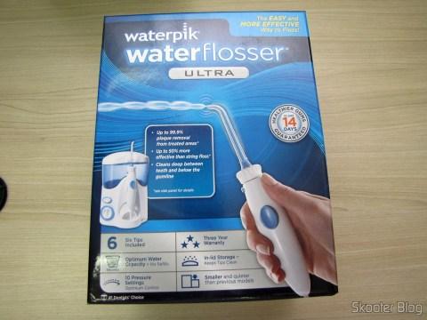 Waterpik Ultra Water Flosser, em sua embalagem